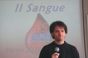 """Ernesto Siena, Studente facoltà di Medicina e chirurgia - Università di Parma - donatore e coordinatore del progetto scuole """"Avis in felpa e jeans"""""""